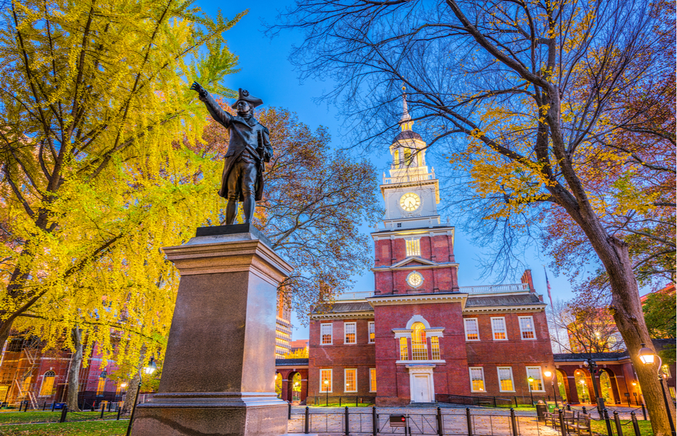 Best Places to go in 2021: Arthur and Pauline Frommer: Independence Hall, Philadelphia