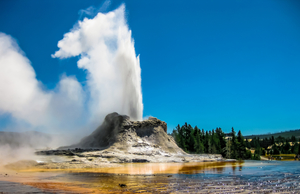 Yellowstone's best geysers: Castle Geyser in the Upper Geyser Basin