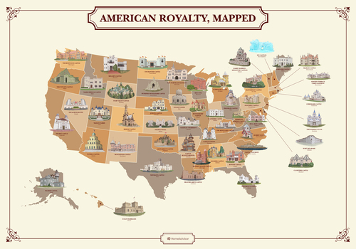 The Best Castles in the USA: Plot a Regal Road Trip with This Storybook Map | Frommer's