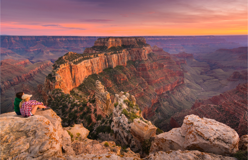 A view of the Grand Canyon from the North Rim