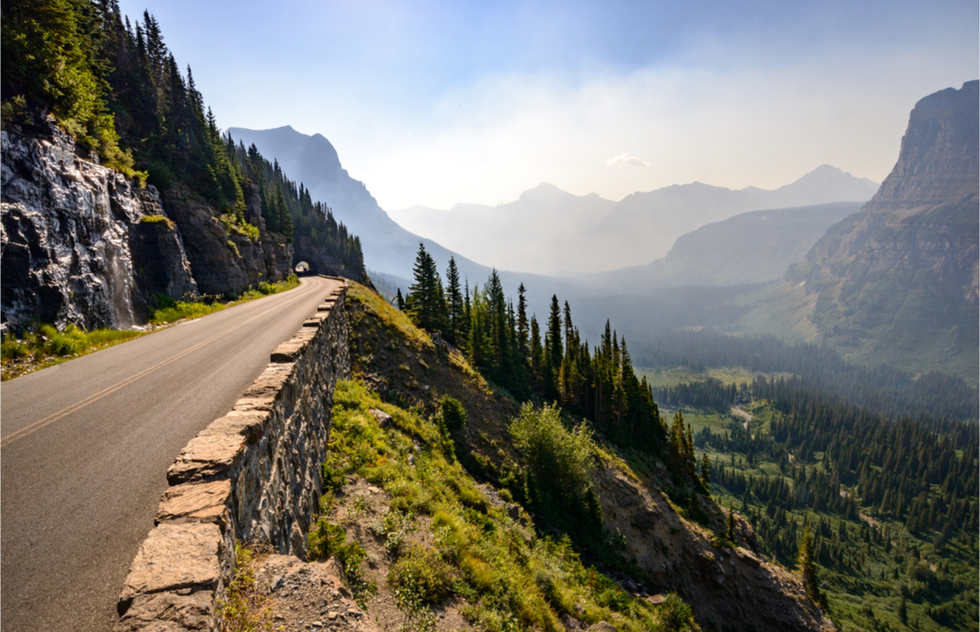 The Going-to-the-Sun Road in Montana's Glacier National Park