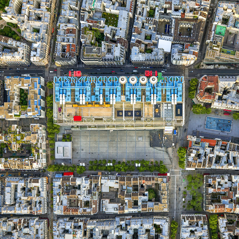 Paris: From the Air (Rizzoli): Centre Pompidou
