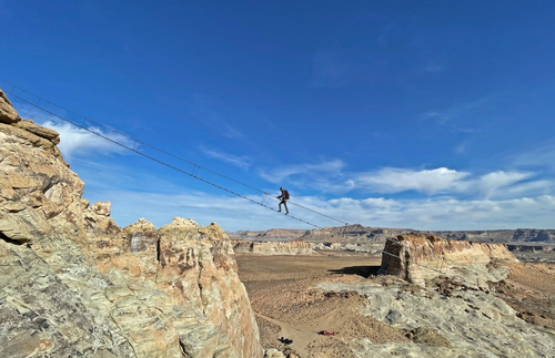 Would You Climb This Heart-Stopping Sky Ladder 400 Feet Above the Utah Desert? | Frommer's