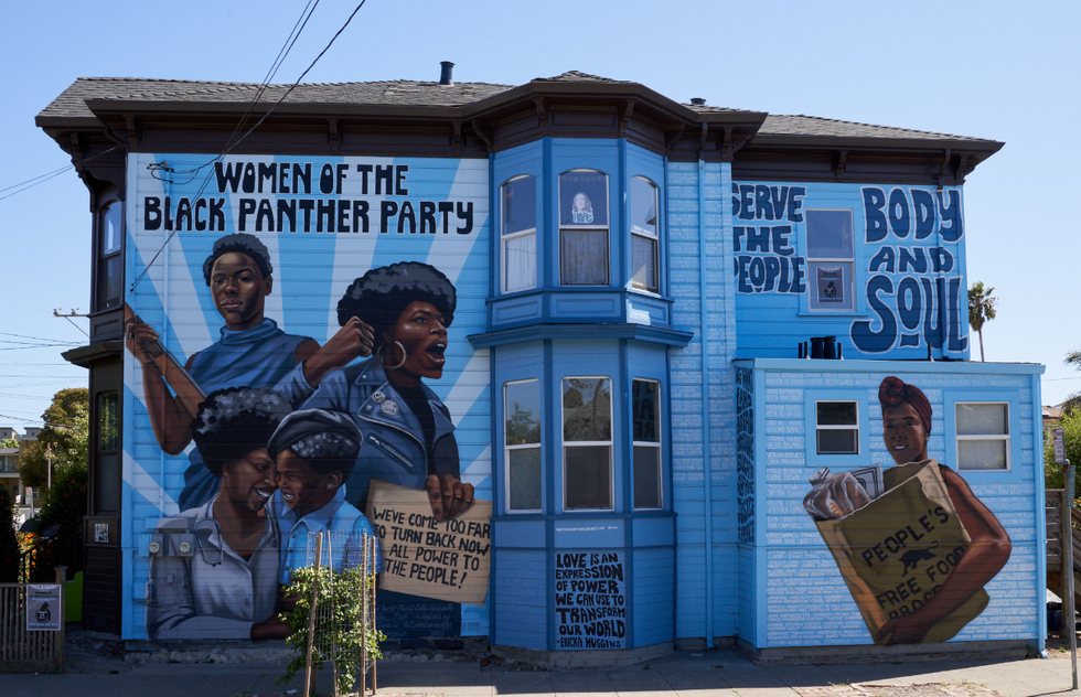 Black Panthers At A Mini Museum