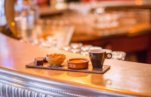 Café gourmand at a Paris bistro