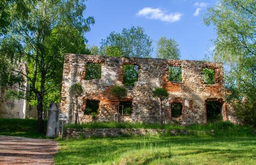 Abandoned building in Döllersheim, Austria