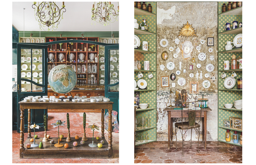 Displays at Marin Montagut's home goods boutique in Paris