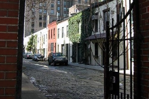 A gate leads to Washington Mews.
