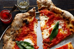 Margherita Pizza at Barbuzzo in Philadelphia. Photo: Jason Varney