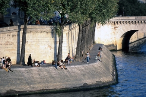 The Seine, Quai D'Orleans, Ile Saint Louis.