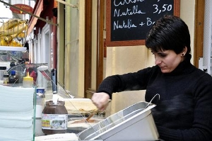 There's nothing like a fresh crepe with Nutella in Paris.