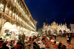 Piazza San Marco at night, Venice.