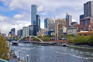 Yarra river in the city of Melbourne, Australia
