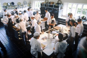 Classes in session at Ballymaloe Cookery School.