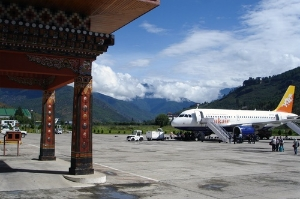 Paro Airport in Bhutan, home to Druk Air.