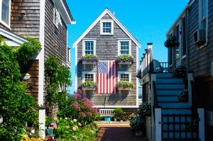 A courtyard on Commercial Street in Provincetown, Massachusetts. Photo courtesy of Tim Grafft/MOTT