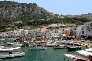 Port on the island of Capri, Italy