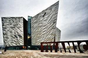 Titanic Quarter, the world's largest Titanic visitor museum, in Belfast, where the ship was built.