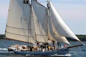 The schooner Timberwind.