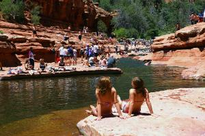 Slide Rock State Park in Oak Creek Canyon, north of Sedona, Arizona