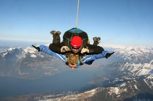 Skydiving over Interlaken, Switzerland.