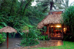 Tabacon Hot Springs near Arenal Volcano, Costa Rica.