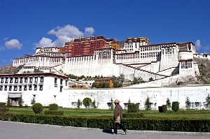 Potala Palace, seat of the Dalai Lamas.