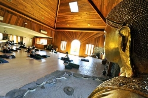Yoga at the New Age Health Spa in the Catskills, NY. Courtesy New Age Health Spa