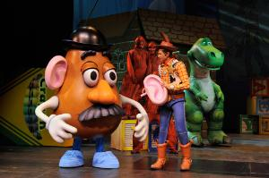 "The toy-sized adventure that charmed audiences in the Disney/Pixar blockbuster film ""Toy Story"" comes to life in the all-new stage spectacular ""Toy Story - The Musical"" aboard the Disney Wonder."