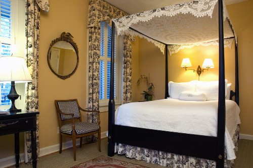 Room 8 at the Battery Carriage House Inn, Charleston, where guests have reported the presence of male ghost with no torso.