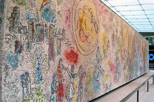 "Marc Chagall's ""Four Seasons"" in Chicago, IL."