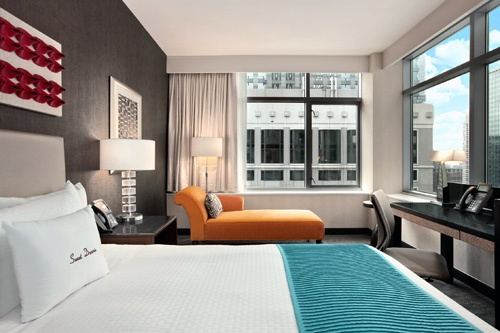 Bedroom suite at theWit, Chicago. Photo: Courtesy theWit Hotel Chicago.