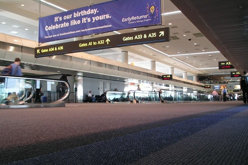The A gates at Denver International Airport.