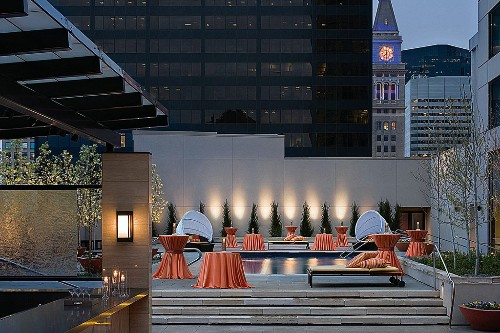 Level 3, the new hot spot for cocktails on the rooftop pool terrace at Four Seasons Hotel Denver.