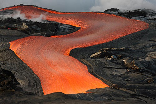 The Kilauea Caldera Overlook is a great place to get a glimpse of the lava flow from the erupting Halema'uma'u.