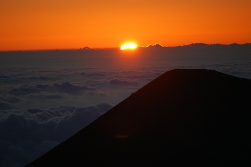 Sunset on Mauna Kea, approximately 14,000 ft above sea level.