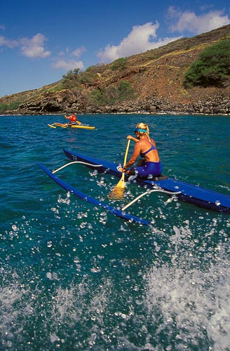 From May to September, Hawaiians keep the tradition of outrigger canoeing alive with a series of races.