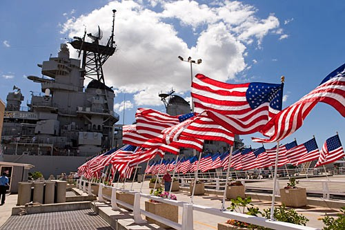 Step on the deck where the Japanese surrendered and World War II ended at Pearl Harbor's USS Missouri Memorial.