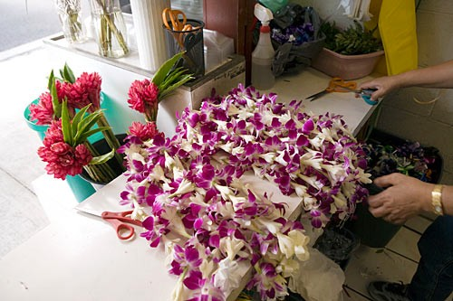 Chinatown's Maunakea Street brims with vendors selling everything from herbs to acupuncture services to beautiful leis.