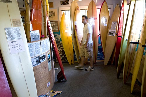 The down-home North Shore Surf & Cultural Museum traces the rich history of Hawaii's native sport.