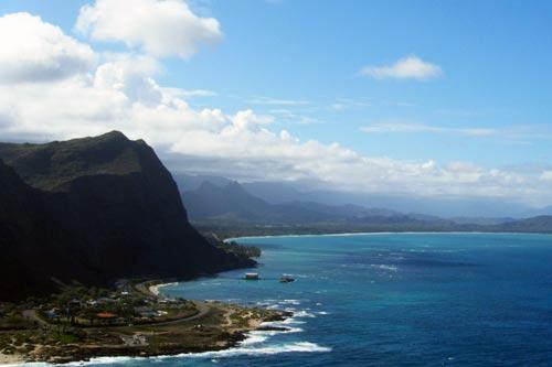 View from Makapu'u Lighthouse in Oahu.