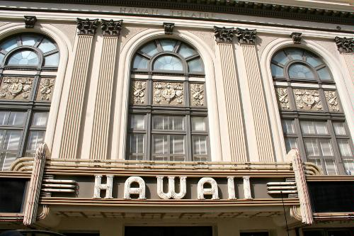 The Hawaii Theatre in Honolulu, Hawaii.