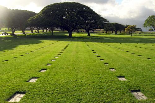 National Cemetery of the Pacific in Honolulu, Hawaii