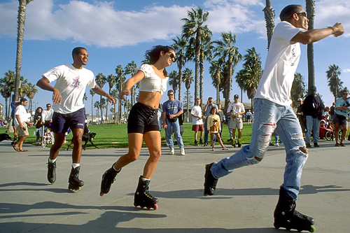 Rollerskating on Venice Boardwalk