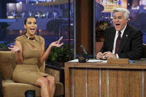 "Kim Kardashian on ""The Tonight Show with Jay Leno."" Photo by: Paul Drinkwater/NBC"