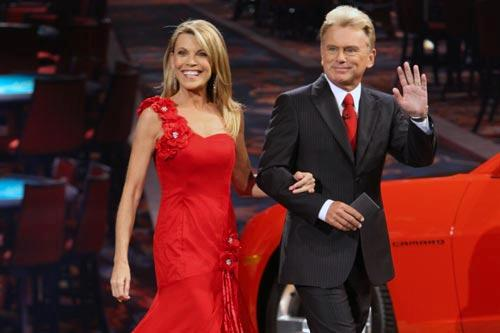 "Hosts Vanna White and Pat Sajak of ""Wheel of Fortune."" Photo: Carol Kaelson"