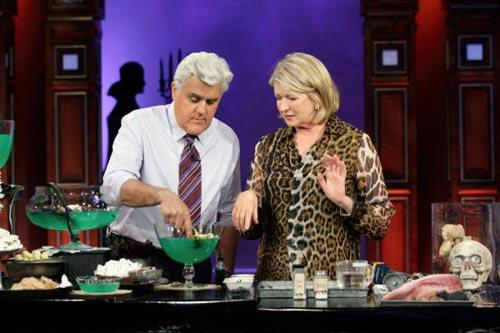 "Jay Leno with guest Martha Stewart on ""The Tonight Show with Jay Leno."" Photo by: Paul Drinkwater/NBC"