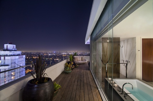 Penthouse suite patio at Andaz Hotel in West Hollywood. Photo courtesy Andaz Hotel.