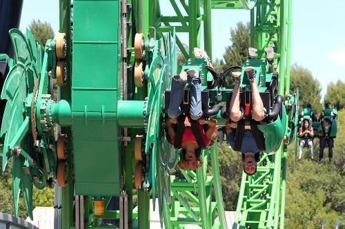 Green Lantern: First Flight at Six Flags Magic Mountain.