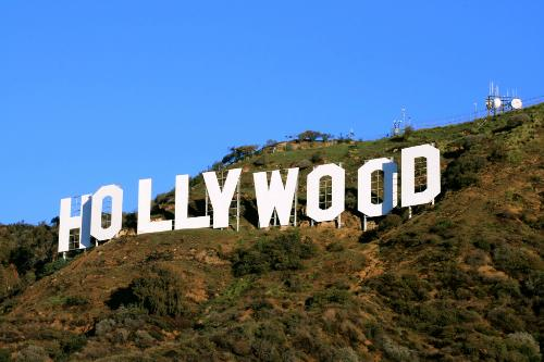 The Hollywood sign in Hollywood, California.